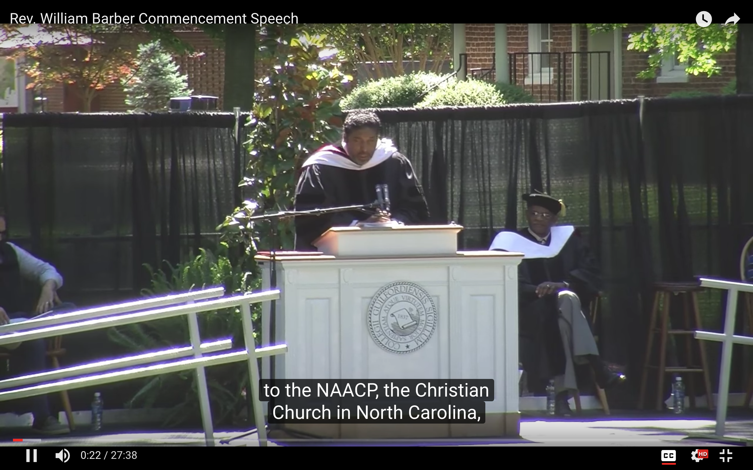 Rev. William Barber Commencement Speech 2016